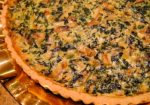 Stock photo of veggie quiche - not specific to this recipe