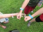 Colin, Caleb and Lila's swim bands.