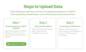 Upload Dexcom CLARITY